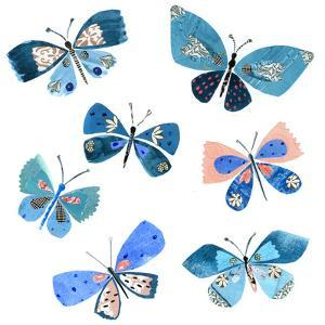 Blue Butterflies by Liz and Kate Pope