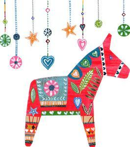 Christmas Dala Horse by Liz and Kate Pope