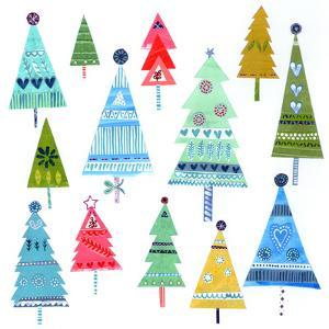 Christmas Trees Collage by Liz and Kate Pope