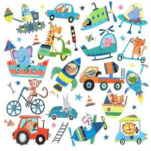 Cute Animals In Vehicles by Liz and Kate Pope