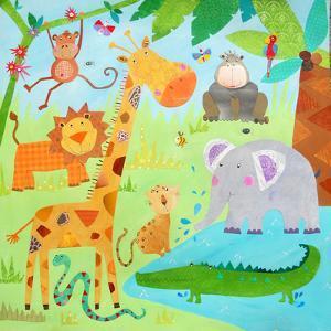 Cute Jungle Scene by Liz and Kate Pope