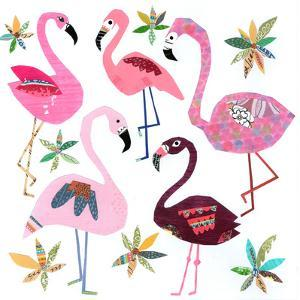 Five Flamingos by Liz and Kate Pope