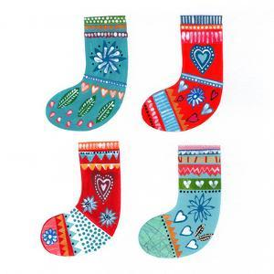 Four Christmas Stockings by Liz and Kate Pope