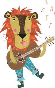 Lion & His Guitar by Liz and Kate Pope