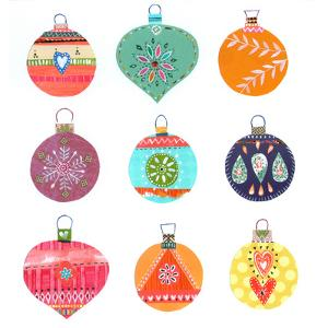 Nine Christmas Baubles by Liz and Kate Pope