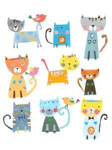 Nine Cute Cats by Liz and Kate Pope