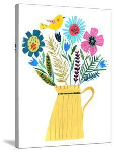 Yellow Jug & Flowers by Liz and Kate Pope