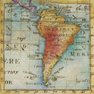 World Map III by Liz Jardine
