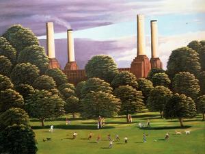 Battersea Power Station, 1982 by Liz Wright