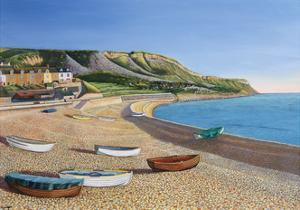 Boats and Cove Cottages, 2006 by Liz Wright