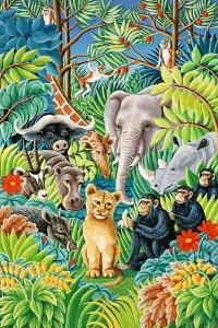 Jungle Party, 1993 by Liz Wright