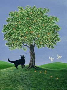 Orange Tree and Cat, 1981 by Liz Wright