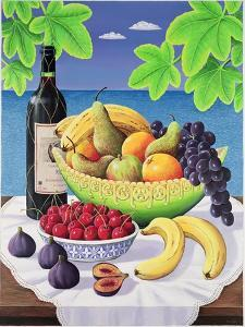 Still Life with Fruit and Wine, 1993 by Liz Wright