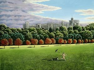 Streaking at Windsor Castle, 1988 by Liz Wright