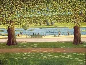 The Serpentine, Hyde Park, 1990 by Liz Wright