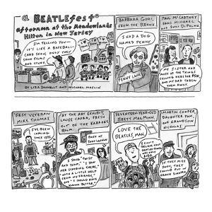 A Beatlefest afternoon at the Meadowlands Hilton in New Jersey. - New Yorker Cartoon by Liza Donnelly
