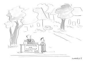 Lemonade and Investment Advice. - Cartoon by Liza Donnelly