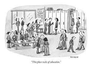 """""""This place reeks of education."""" - New Yorker Cartoon by Liza Donnelly"""
