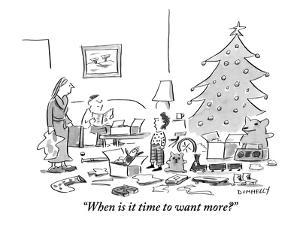 """""""When is it time to want more?"""" - New Yorker Cartoon by Liza Donnelly"""
