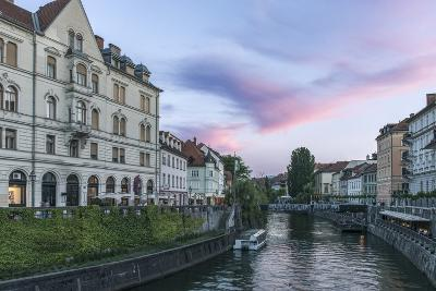Ljubljana River Sunset-Rob Tilley-Photographic Print