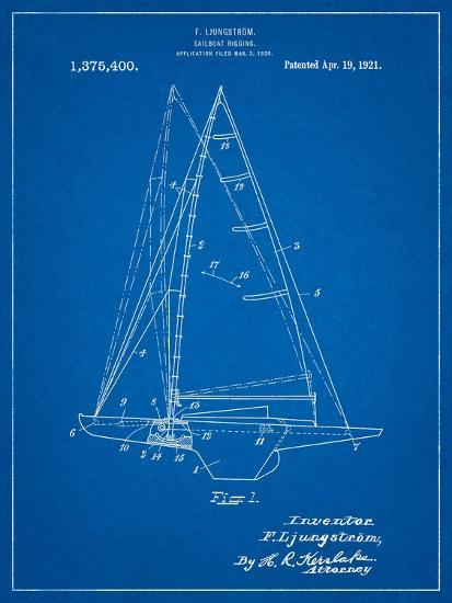 Ljungstrom Sailboat Rigging Patent-Cole Borders-Art Print