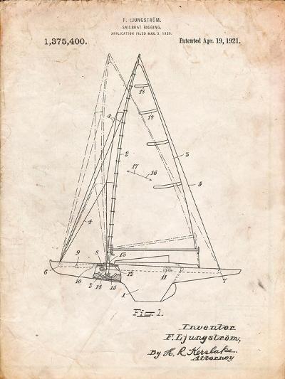 Ljungstrom Sailboat Rigging Patent-Cole Borders-Art Print