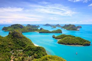 Bird Eye View of Angthong National Marine Park, Koh Samui, Thailand by lkunl