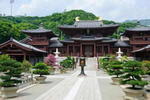 Chi Lin Nunnery, Tang Dynasty Style Chinese Temple, Hong Kong by lkunl