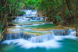 Deep Forest Waterfall in Kanchanaburi, Thailand by lkunl