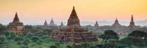 Panorama of  Bagan Temple at Sunset, Myanmar by lkunl