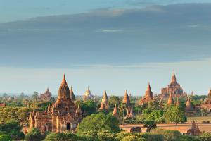The Temples of Bagan at Sunrise, Bagan, Myanmar by lkunl