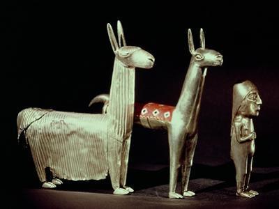 Llama, Alpaca and Woman, Inca