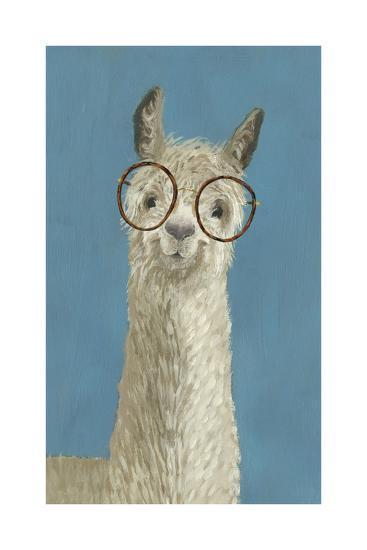 Llama Specs III-Victoria Borges-Art Print