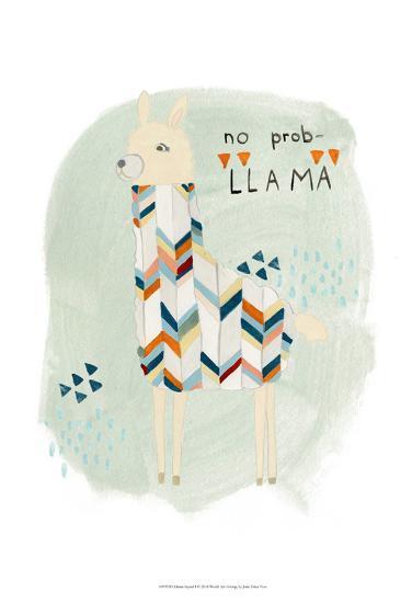 Llama Squad I-June Erica Vess-Art Print