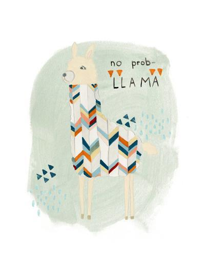 Llama Squad I-June Vess-Art Print