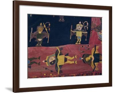 Llama Wool Fabric Used to Wrap Mummies, Paracas Culture--Framed Giclee Print