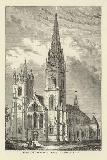 Llandaff Cathedral, from the South-West--Giclee Print