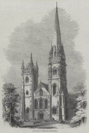 Llandaff Cathedral Restored--Giclee Print