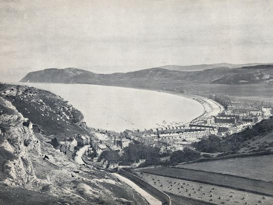 'Llandudno - Looking Down from the Mountain', 1895-Unknown-Photographic Print