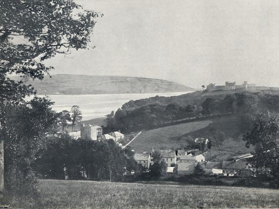 'Llanstephan - The Village and the Castle-Crowned Hill', 1895-Unknown-Photographic Print