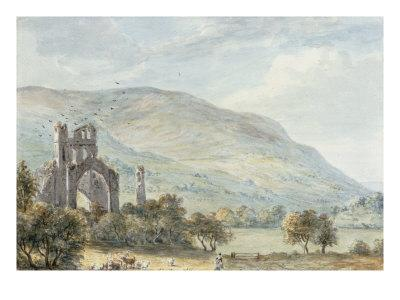 Llanthony Abbey, Monmouthshire-Paul Sandby-Giclee Print