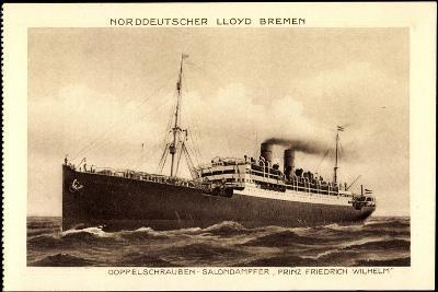 Lloyd Bremen, Dampfer Prinz Friedrich Wilhelm--Giclee Print
