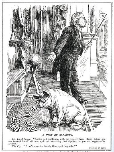 Lloyd George Faces Opposition to His 'Government of Ireland' Bill from the -English School-Giclee Print