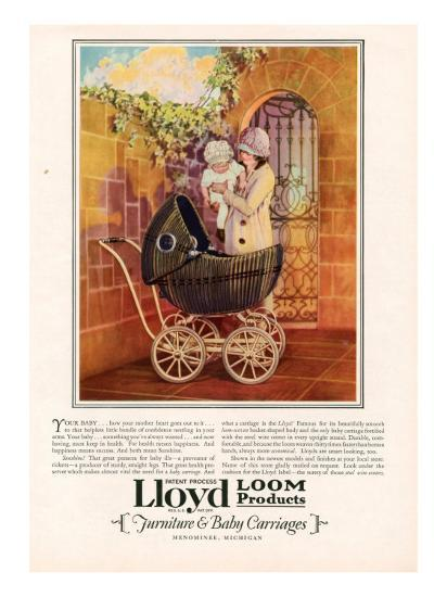 Lloyd Loom, Magazine Advertisement, USA, 1927--Giclee Print