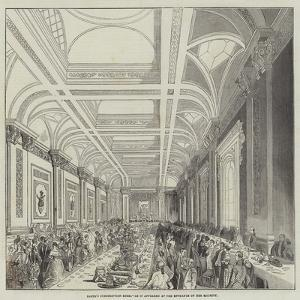 Lloyd's Subscription Room, as it Appeared at the Entrance of Her Majesty
