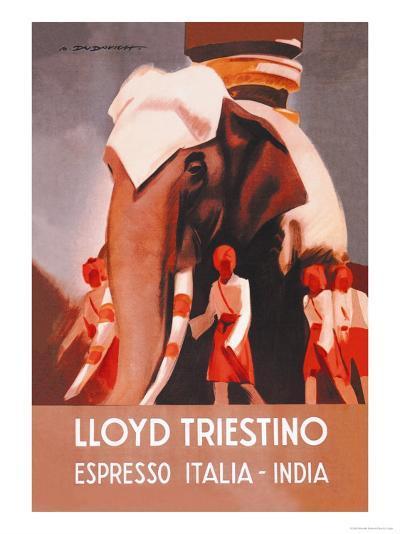 Lloyd Triestino Espresso Itali India-Marcello Dudovich-Art Print