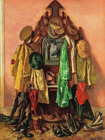"""Loaded Coat Rack"", April 14, 1945-John Atherton-Giclee Print"