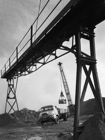 Loading a Ford Thames Trader Tipper Lorry, Finningley, Near Doncaster, South Yorkshire, 1966-Michael Walters-Photographic Print