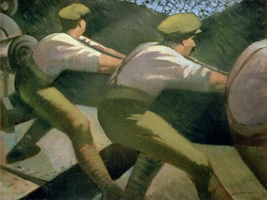 Loading a Gun in the Trenches, 1918-Christopher Richard Wynne Nevinson-Giclee Print