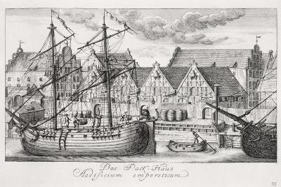 Loading at the Granary Island, from 'Fifty Views of Gdansk', Engraved by Matthaeus Deisch…-or Lormann, Friedrich Anton Lohrmann-Giclee Print